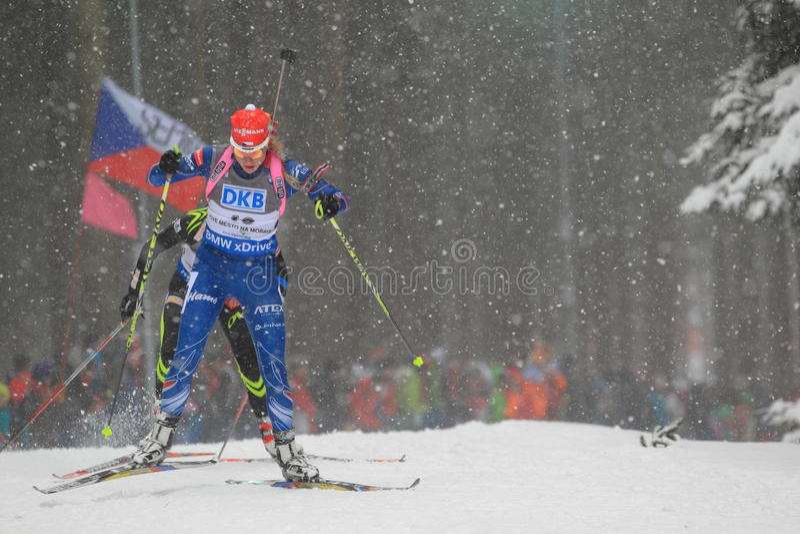 Barbora Tomesova - biathlon arkivfoto