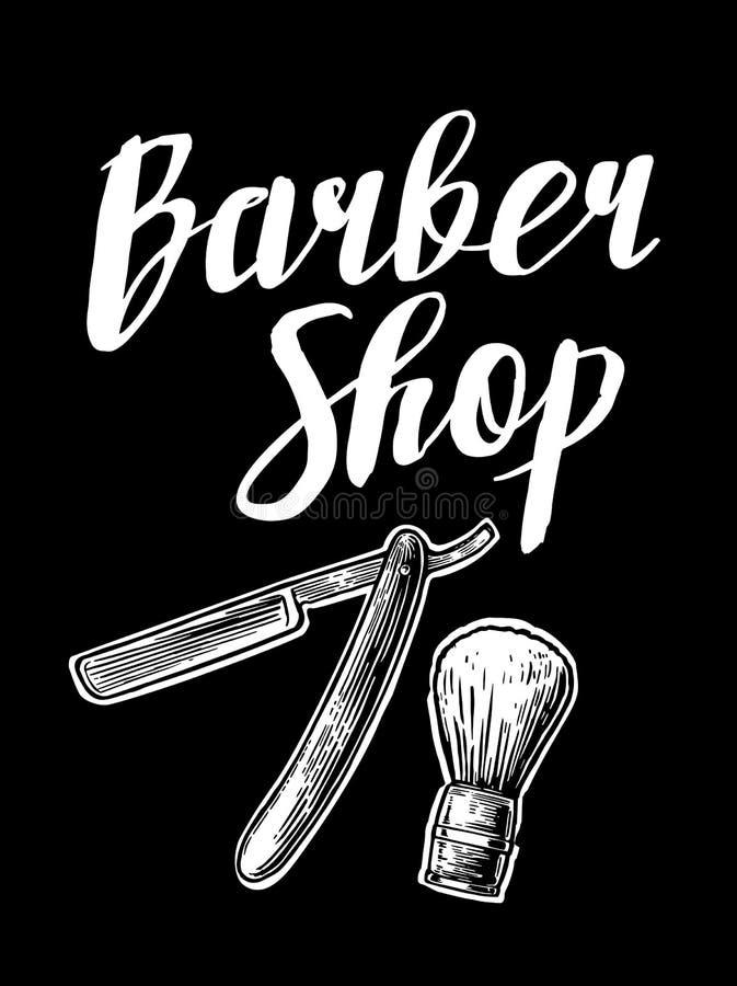 barbra Διανυσματικά γραπτά απεικονίσεις και στοιχεία τυπογραφίας Συρμένη χέρι εκλεκτής ποιότητας χάραξη για την αφίσα, ετικέτα, έ ελεύθερη απεικόνιση δικαιώματος