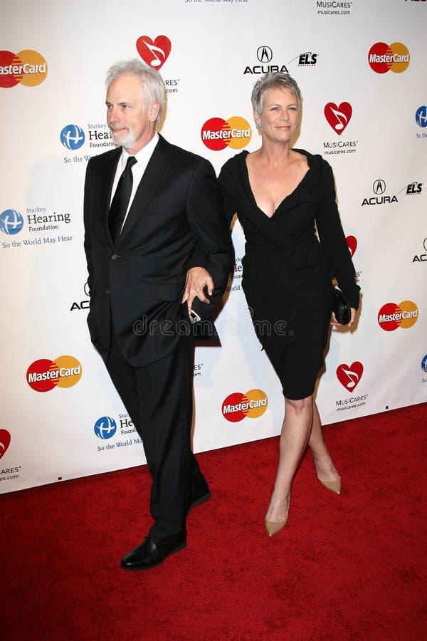 Barbra Streisand, Christopher Guest, Jamie Lee Curtis lizenzfreie stockfotos