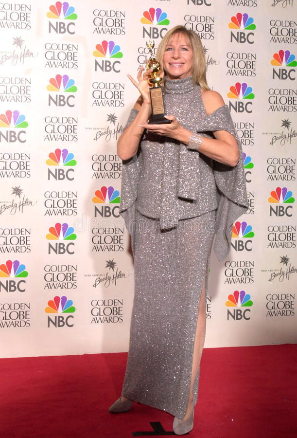 Barbra Streisand. 23JAN2000: Actress/singer/director BARBRA STREISAND at the Golden Globe Awards where she was presented with the Cecil B. DeMille Award. Jean stock photography