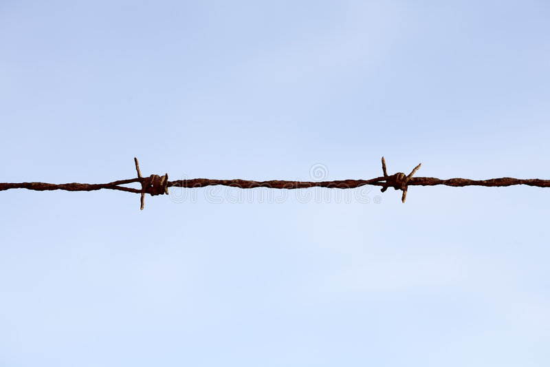 Barbwire stock foto