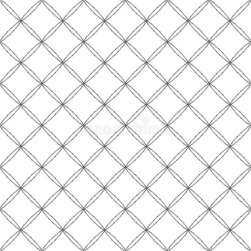 Barbwire Background. Abstract Seamless Pattern Barbwire Background stock illustration