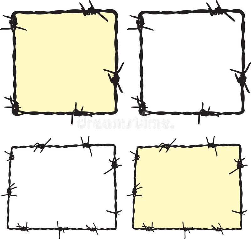 Barbwire frame. For your design royalty free illustration