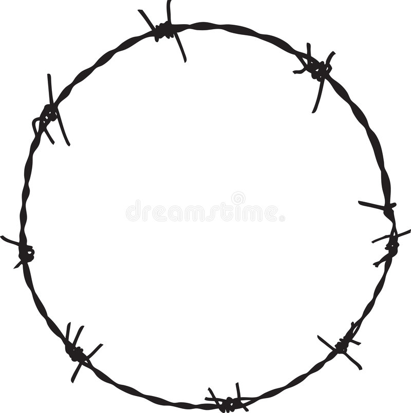 Barbwire frame. For your design vector illustration