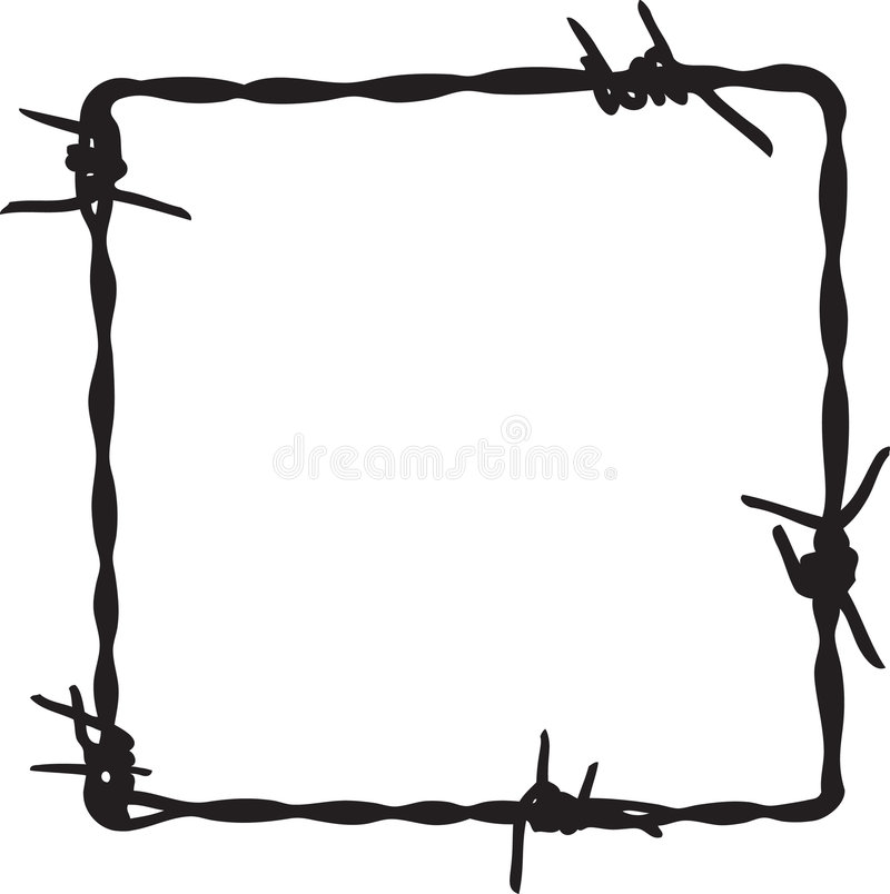Barbwire frame. For your design stock illustration