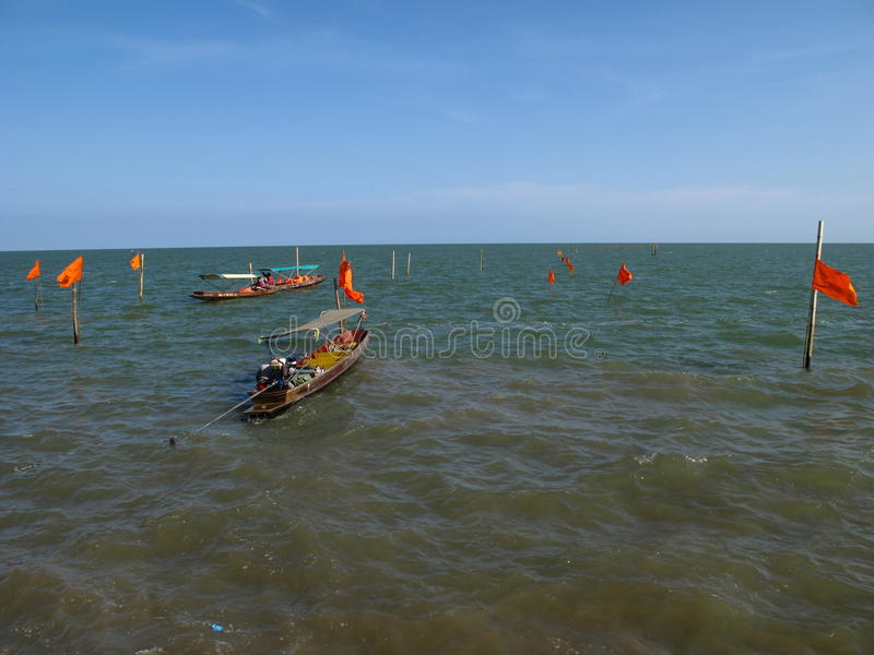Barca al mare fotografia stock libera da diritti