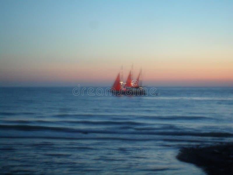 Barca al tramonto fotografia stock