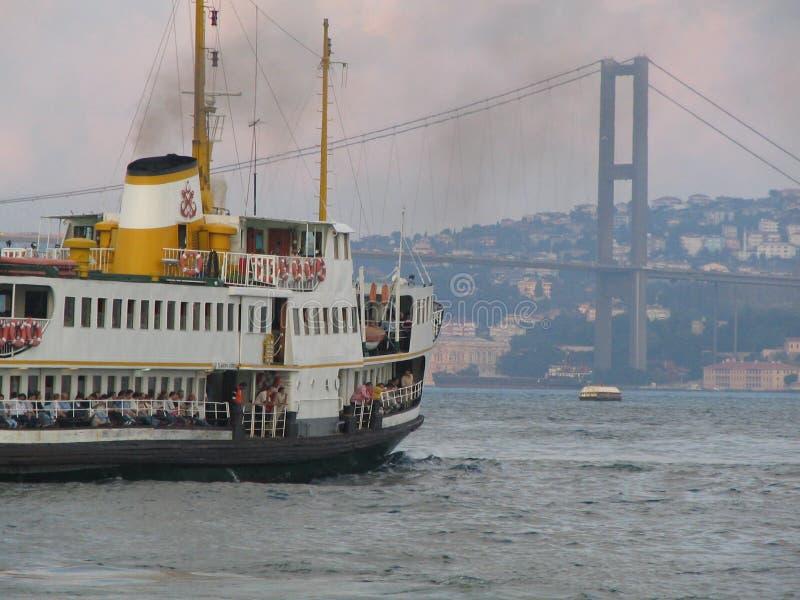 Barca in Bhosphorus fotografia stock