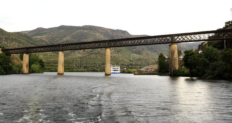 Barca de Alva – International Railway Bridge. View of the international railway bridge over the Agueda River, connecting Portugal to Spain and now stock images