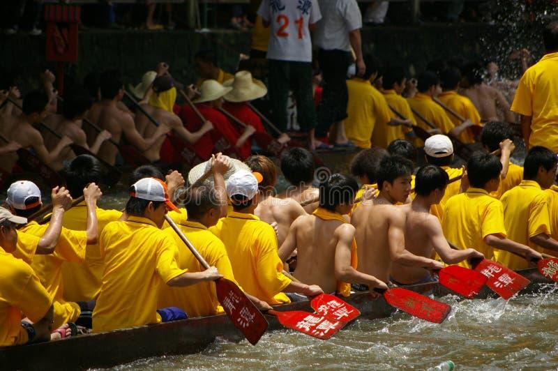 Barca del drago a Guangzhou fotografia stock libera da diritti