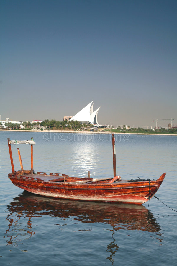 Barca del Dubai Creek fotografie stock