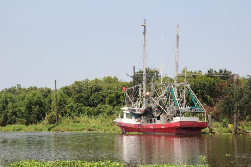Barca del gamberetto della Luisiana immagini stock