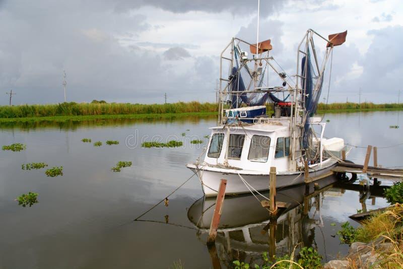 Barca del gamberetto della Luisiana fotografia stock libera da diritti