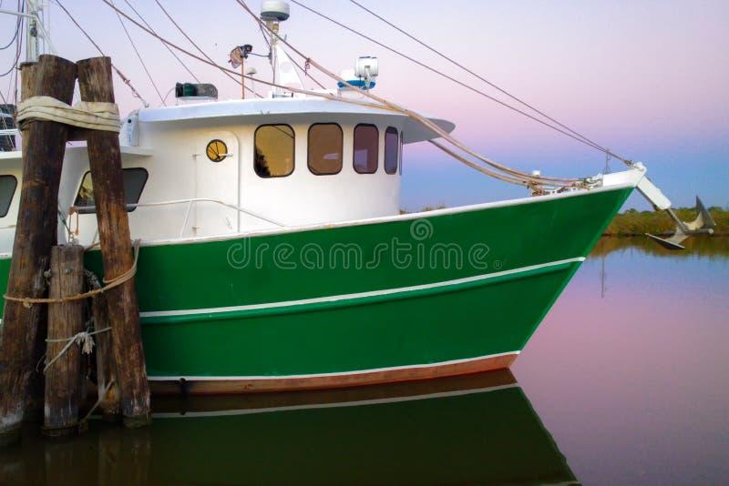 Barca del gamberetto della Luisiana fotografie stock