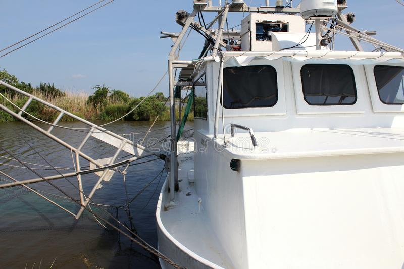 Barca del gamberetto della Luisiana fotografia stock