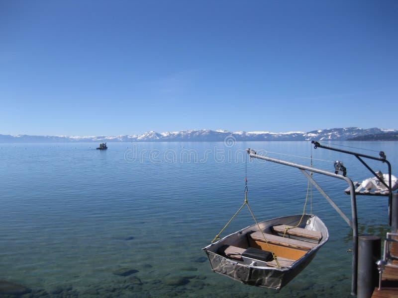 Barca del lago immagine stock