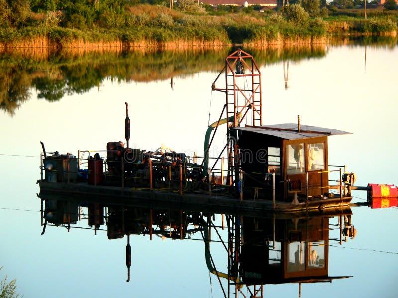 Barca del minatore fotografie stock libere da diritti