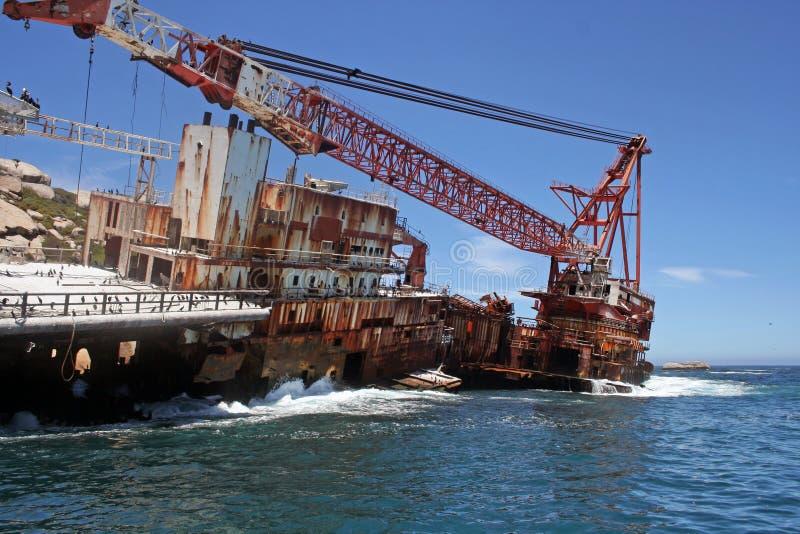 Barca del naufragio fotografie stock libere da diritti