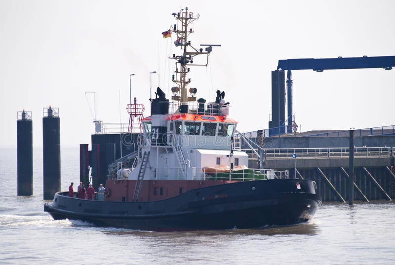 Barca del rimorchiatore fotografia stock libera da diritti