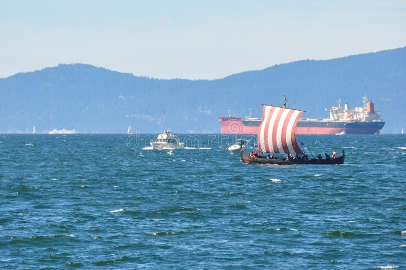 Barca della cambusa, Vancouver, Columbia Britannica, Canada fotografia stock libera da diritti