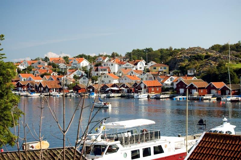 Barca della Svezia sul lago fotografie stock libere da diritti