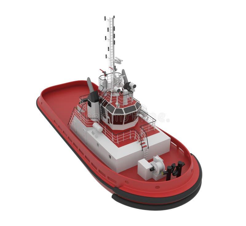 Barca della tirata. illustrazione vettoriale