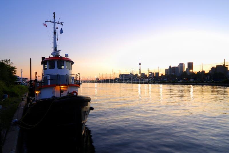 Barca della tirata di Toronto immagini stock libere da diritti