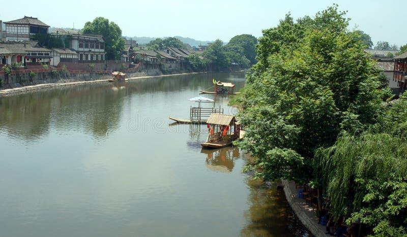 Barca di bambù immagine stock
