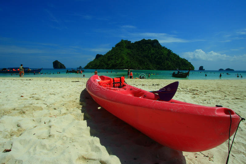 Barca di banana di Krabi immagini stock