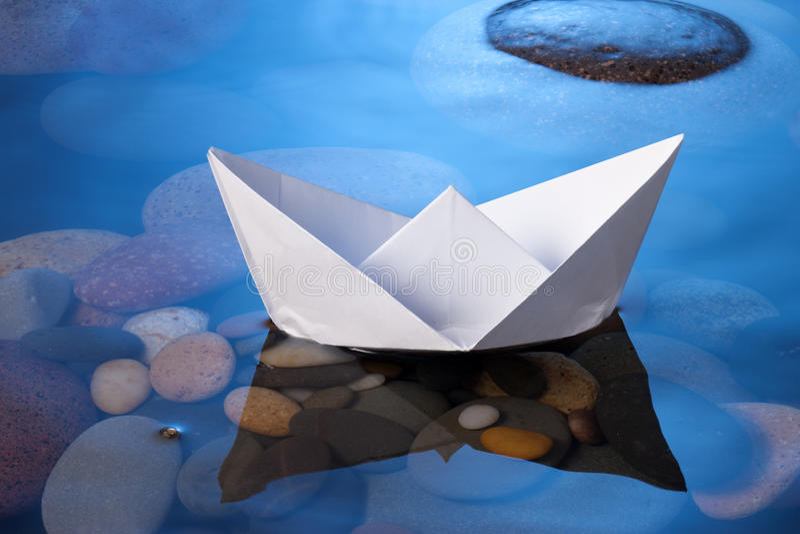 Barca di carta fotografia stock