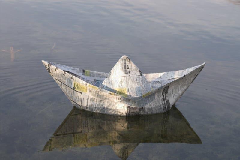 Barca di carta immagini stock