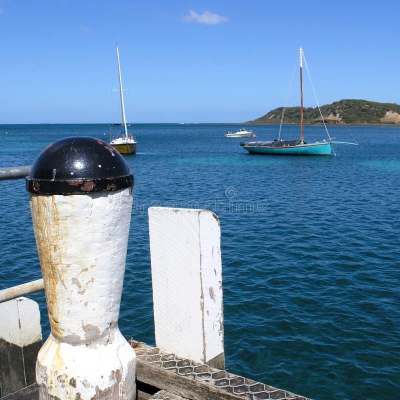 Barca di Couta attraccata al Flinders fotografie stock