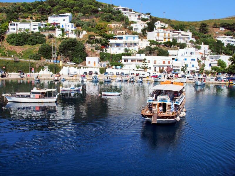 Barca di crociera di giorno, isola greca egea di Skyros, Grecia fotografia stock