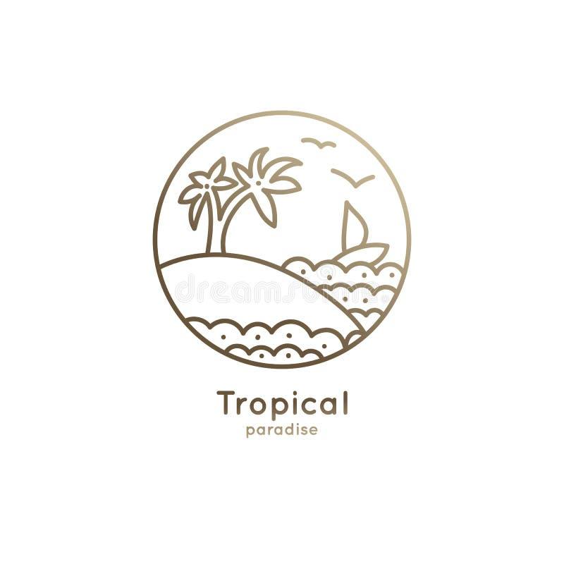 Barca di logo in tropici