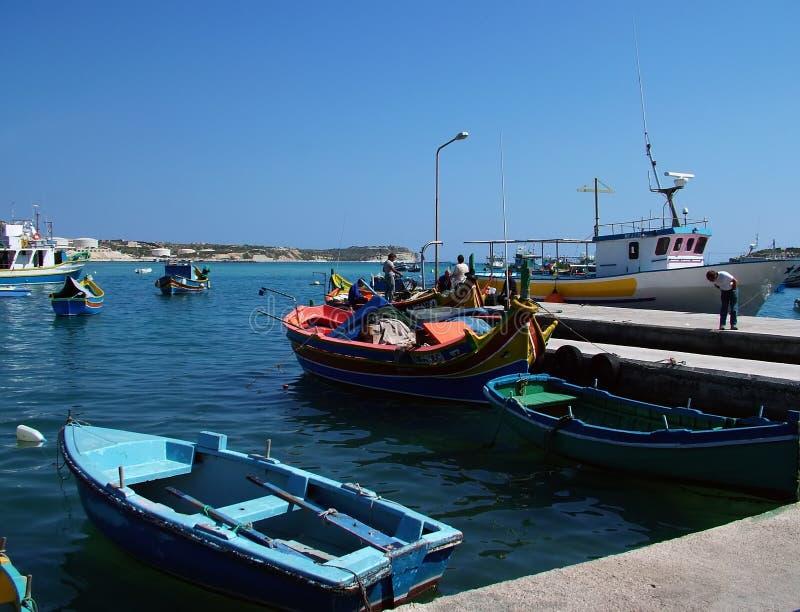 Barca di Malta fotografie stock