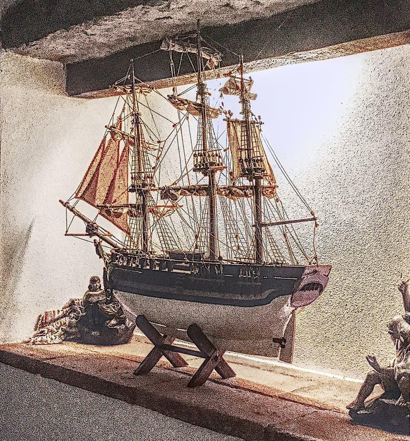 Barca di modello che accenta i grani immagine stock libera da diritti