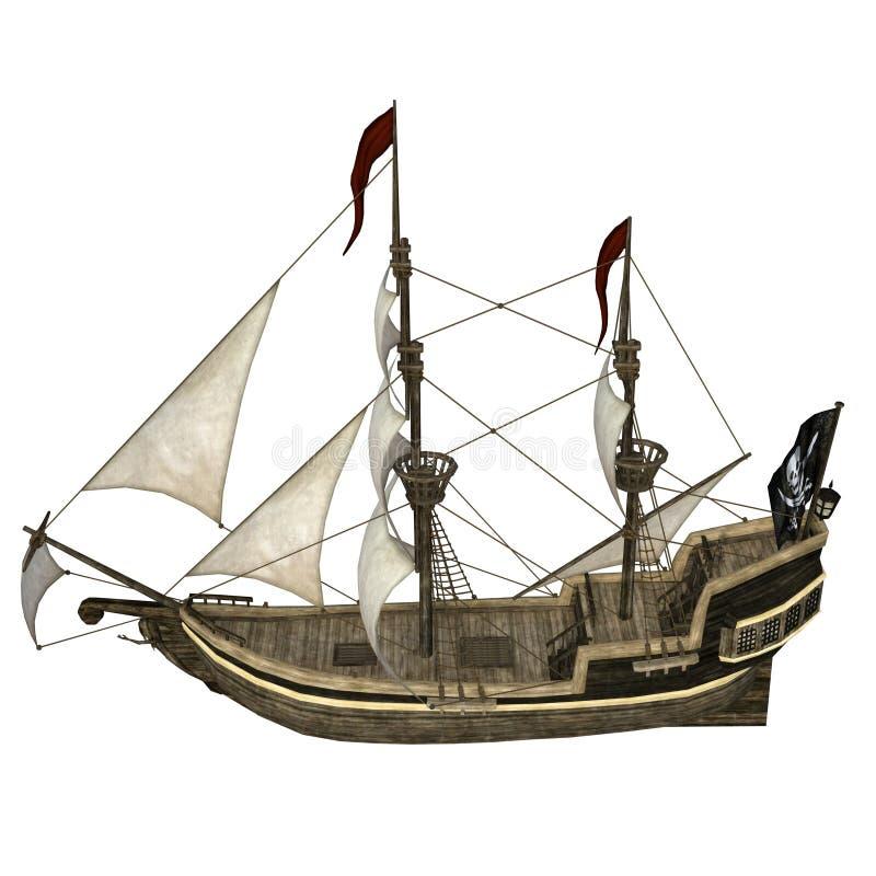 Barca di navigazione illustrazione di stock