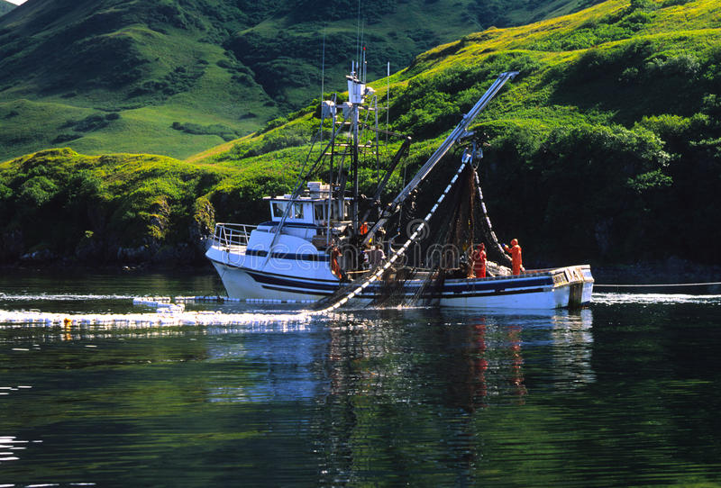 Barca di pesca professionale immagini stock