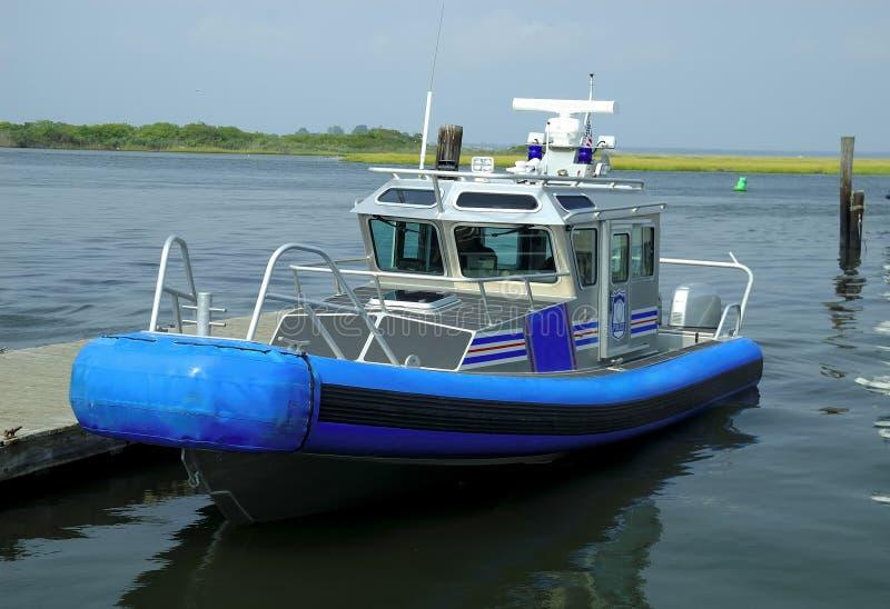 Barca di polizia fotografia stock