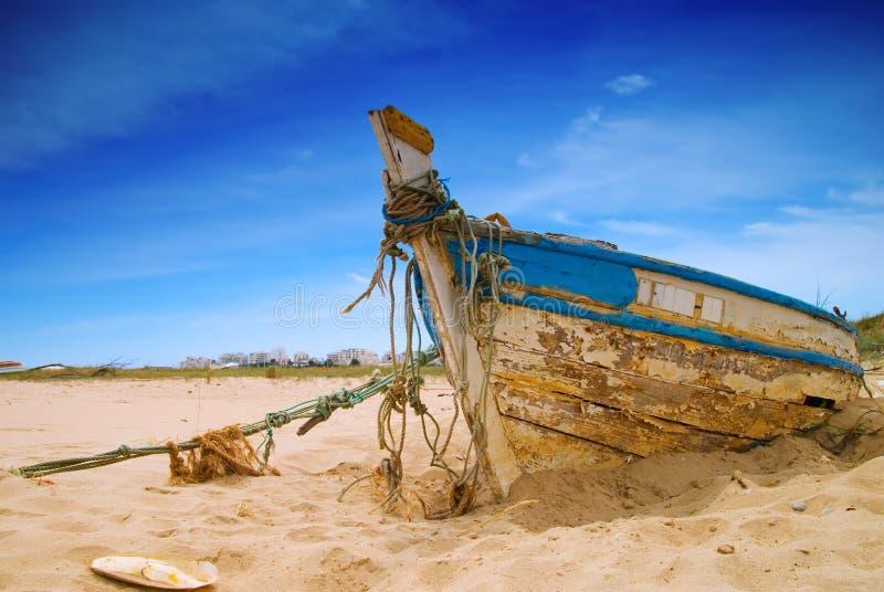 Barca dilapidata fotografia stock