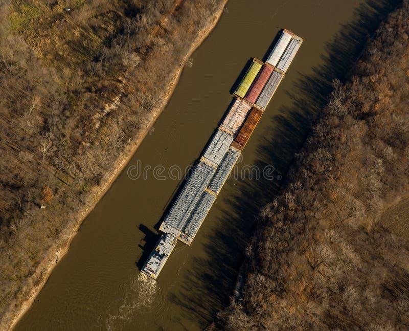 Barca do rio fotografia de stock