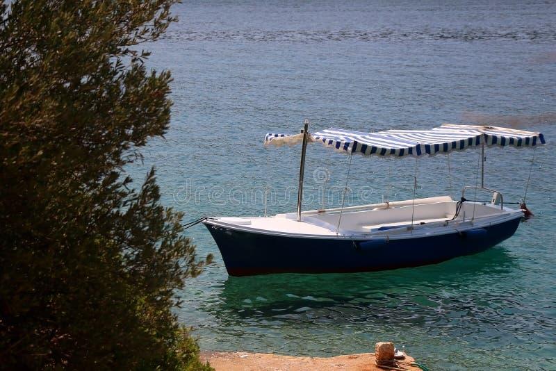 Barca e Olive Tree immagini stock libere da diritti