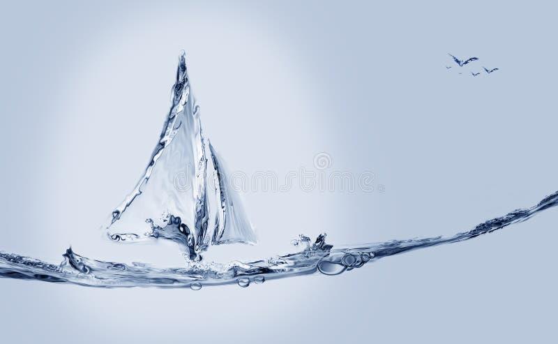 Barca e pesce di salto fotografia stock libera da diritti
