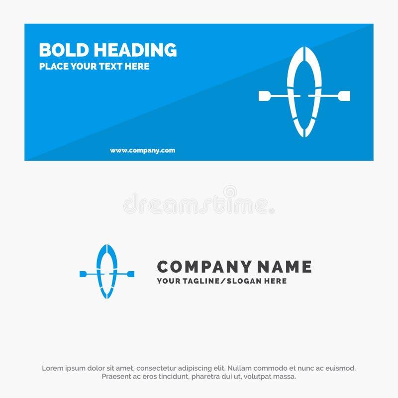 Barca, estate, insegna solida del sito Web dell'icona della spiaggia ed affare Logo Template royalty illustrazione gratis