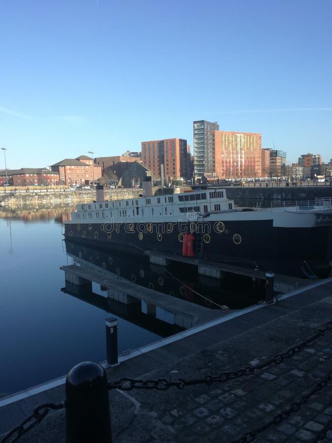 Barca a Liverpool fotografia stock libera da diritti