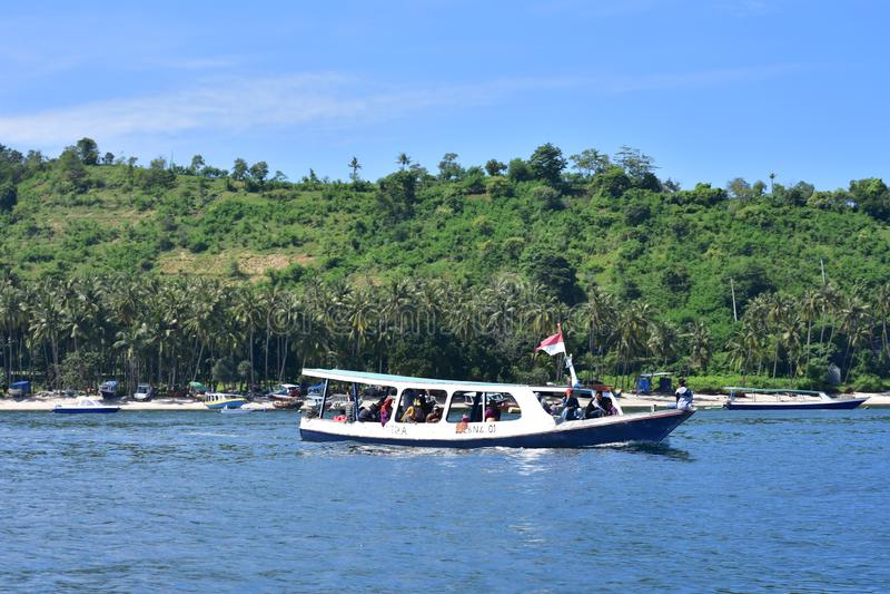 Barca in Lombok fotografia stock libera da diritti