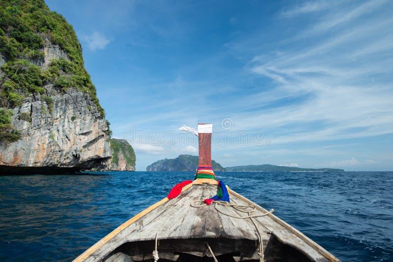 Barca Long-tailed immagine stock libera da diritti