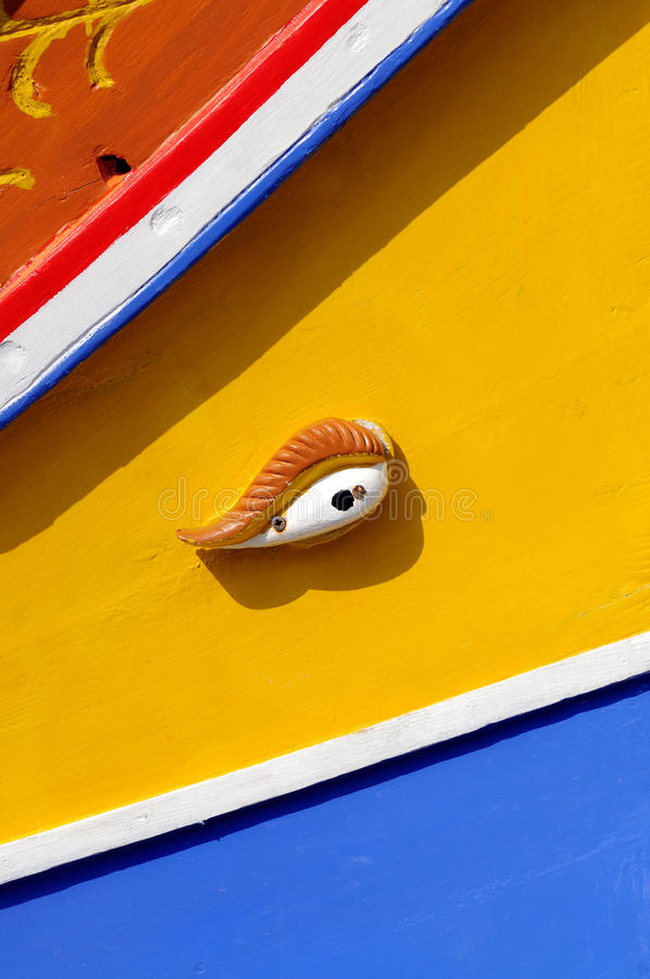 Barca maltese tradizionale, chiamata Luzzu fotografia stock