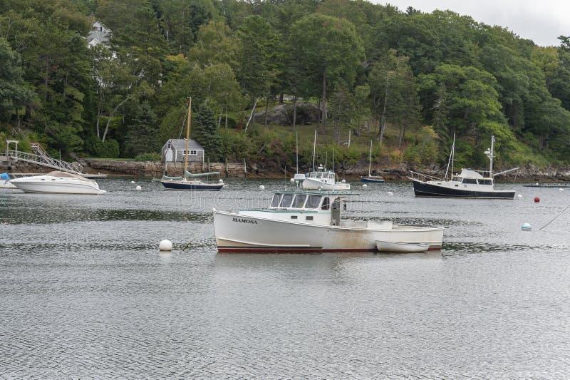 Barca Mamosa dell'aragosta e schifo immagini stock