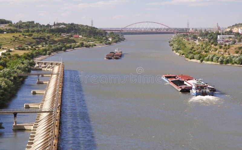Barca movente fotos de stock